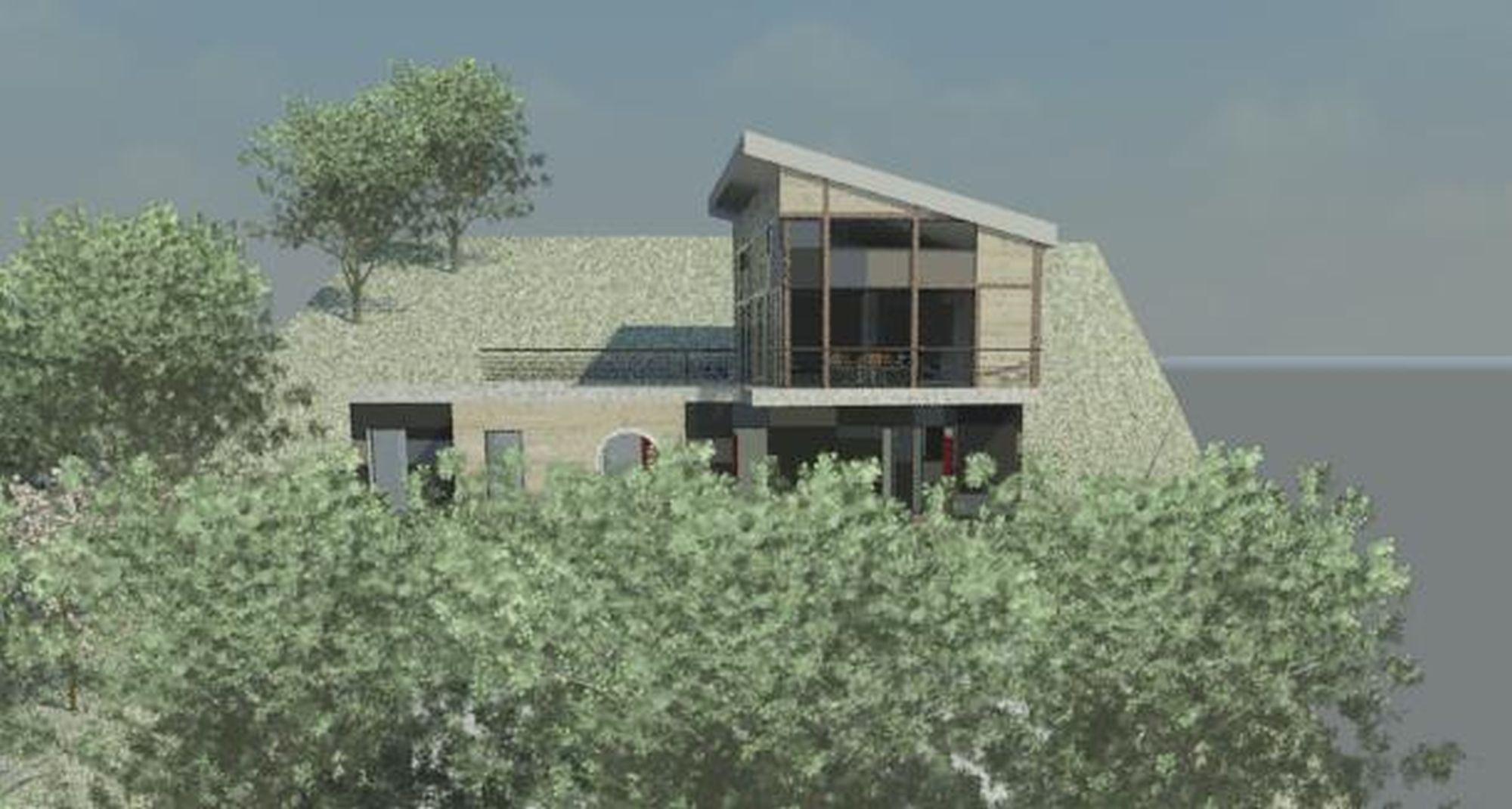Maison dans la pente agence o - Construction maison sur terrain en pente ...