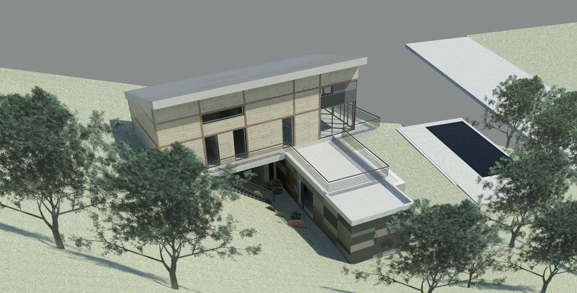 Construction maison terrain en pente maison individuelle - Maison moderne sur terrain en pente ...